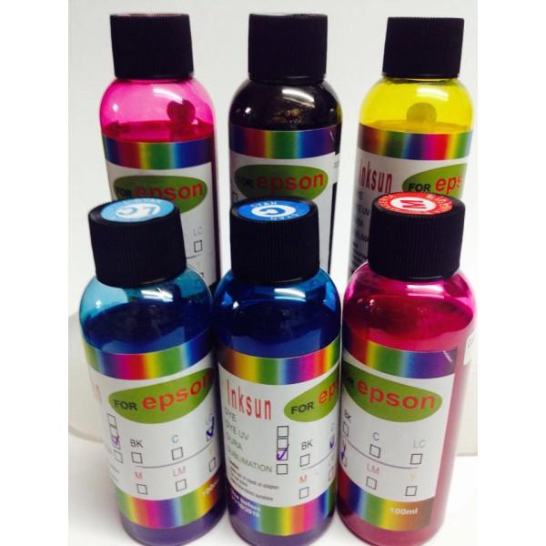 Mực dầu pigment hảo hạng inksun 100ml chai trong