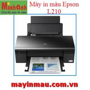 Máy in phun 04 màu đa năng Epson L210 - Khổ A4 - Gắn sẵn bộ tiếp mực ngoài chính hãng Epson