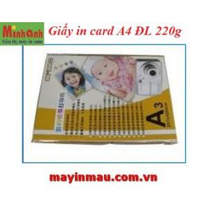 Giấy in card A4 ĐL 220g