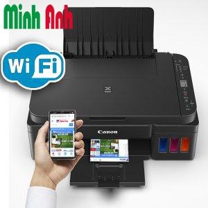 Máy in phun màu đa năng có Wifi G3010 chính hãng